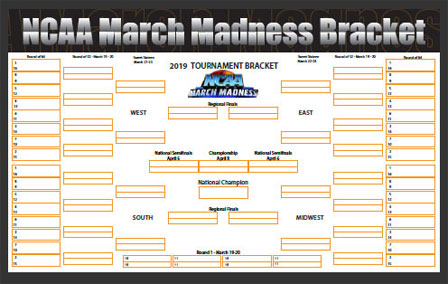 2014 Free March Madness Pritable Bracket