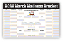 2013 March Madness Printable & Editable Brackets